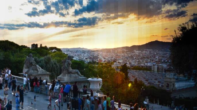 barcelona-sunset-timeslice
